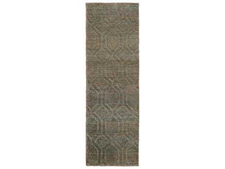 Surya Galloway 2'6'' x 8' Rectangular Chocolate& Teal Runner Rug