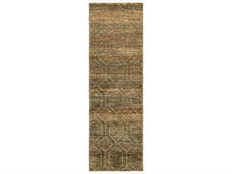 Surya Galloway 2'6'' x 8' Rectangular Olive Runner Rug