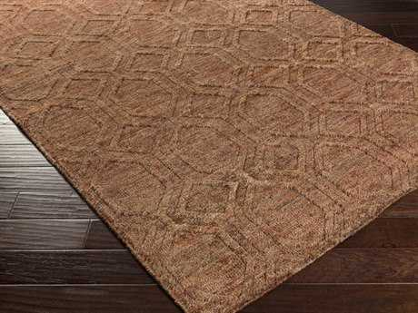 Surya Galloway Rectangular Chocolate & Burgundy Area Rug