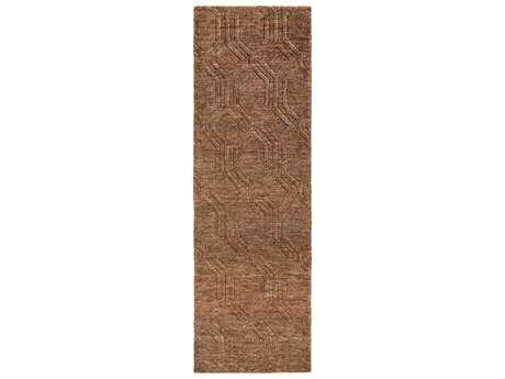 Surya Galloway 2'6'' x 8' Rectangular Chocolate & Burgundy Runner Rug