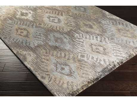Surya Gemini Rectangular Taupe, Khaki & Light Gray Area Rug