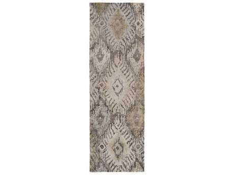 Surya Gemini 2'6'' x 8' Rectangular Taupe, Khaki & Light Gray Runner Rug