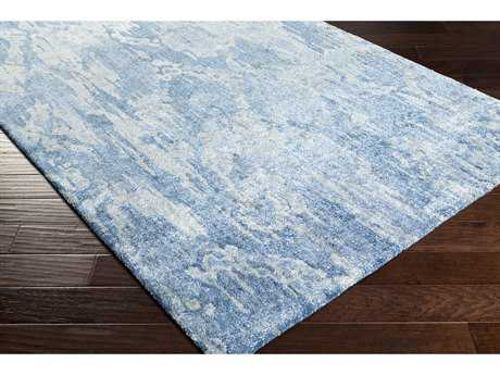 Surya Gemini Rectangular Dark Blue, Aqua & Pale Blue Area Rug