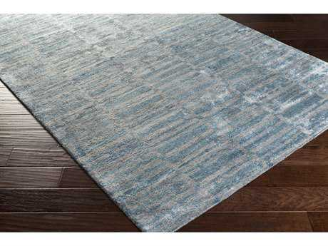 Surya Gemini Rectangular Teal & Medium Gray Area Rug