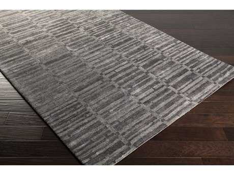 Surya Gemini Rectangular Charcoal & Medium Gray Area Rug