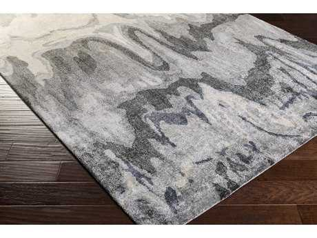 Surya Gemini Rectangular Medium Gray, Charcoal & Ivory Area Rug