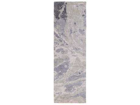 Surya Gemini 2'6'' x 8' Rectangular Medium Gray, Lavender & Blush Runner Rug