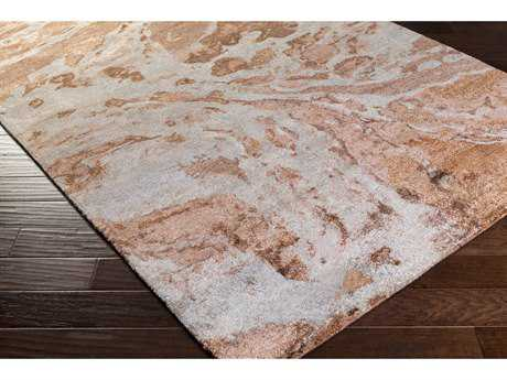 Surya Gemini Rectangular Rust, Burnt Orange & Camel Area Rug