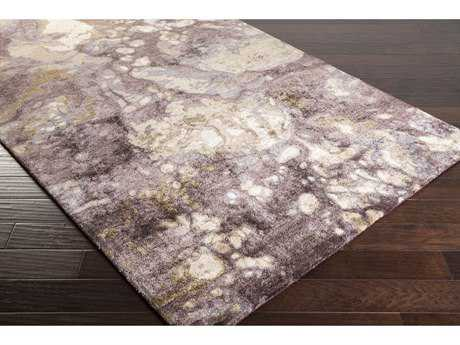 Surya Gemini Rectangular Taupe, Dark Purple & Camel Area Rug