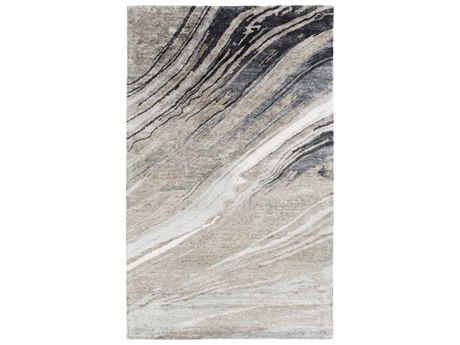 Surya Gemini Rectangular Charcoal, Medium Gray & Light Gray Area Rug