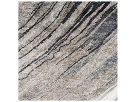 Surya Gemini Rectangular Charcoal, Medium Gray & Light Gray Area Rug
