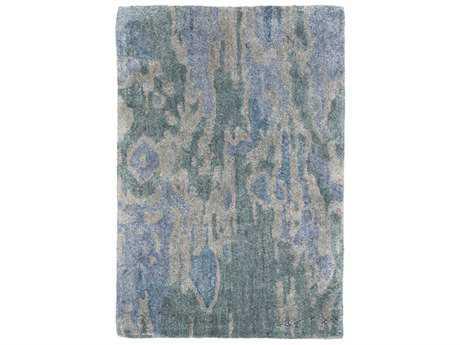 Surya Gemini Rectangular Emerald, Dark Blue & Medium Gray Area Rug