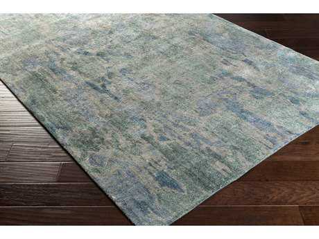 Surya Gemini Rectangular Emerald, Dark Blue & Medium Gray Area Rug