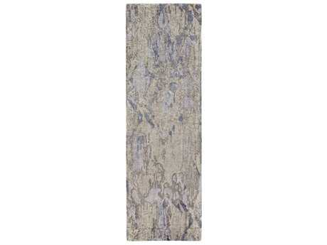 Surya Gemini 2'6'' x 8' Rectangular Navy, Light Gray & Denim Runner Rug