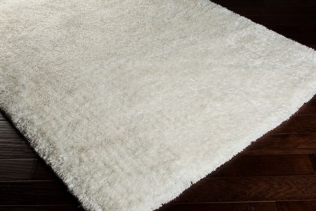 Surya Grizzly Rectangular White Area Rug
