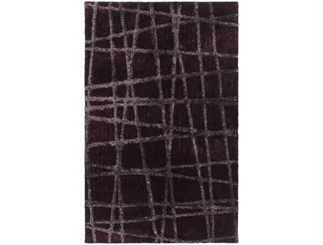 Surya Graph Rectangular Purple Area Rug