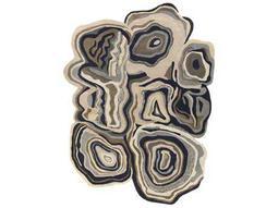 Surya Gypsy Rectangular Medium Gray, Black & Taupe Area Rug