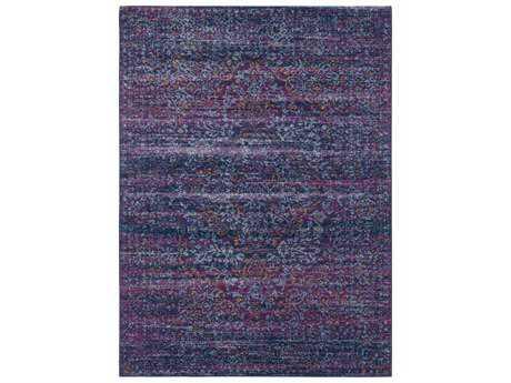 Surya Harput Rectangular Purple, Cobalt & Aqua Area Rug