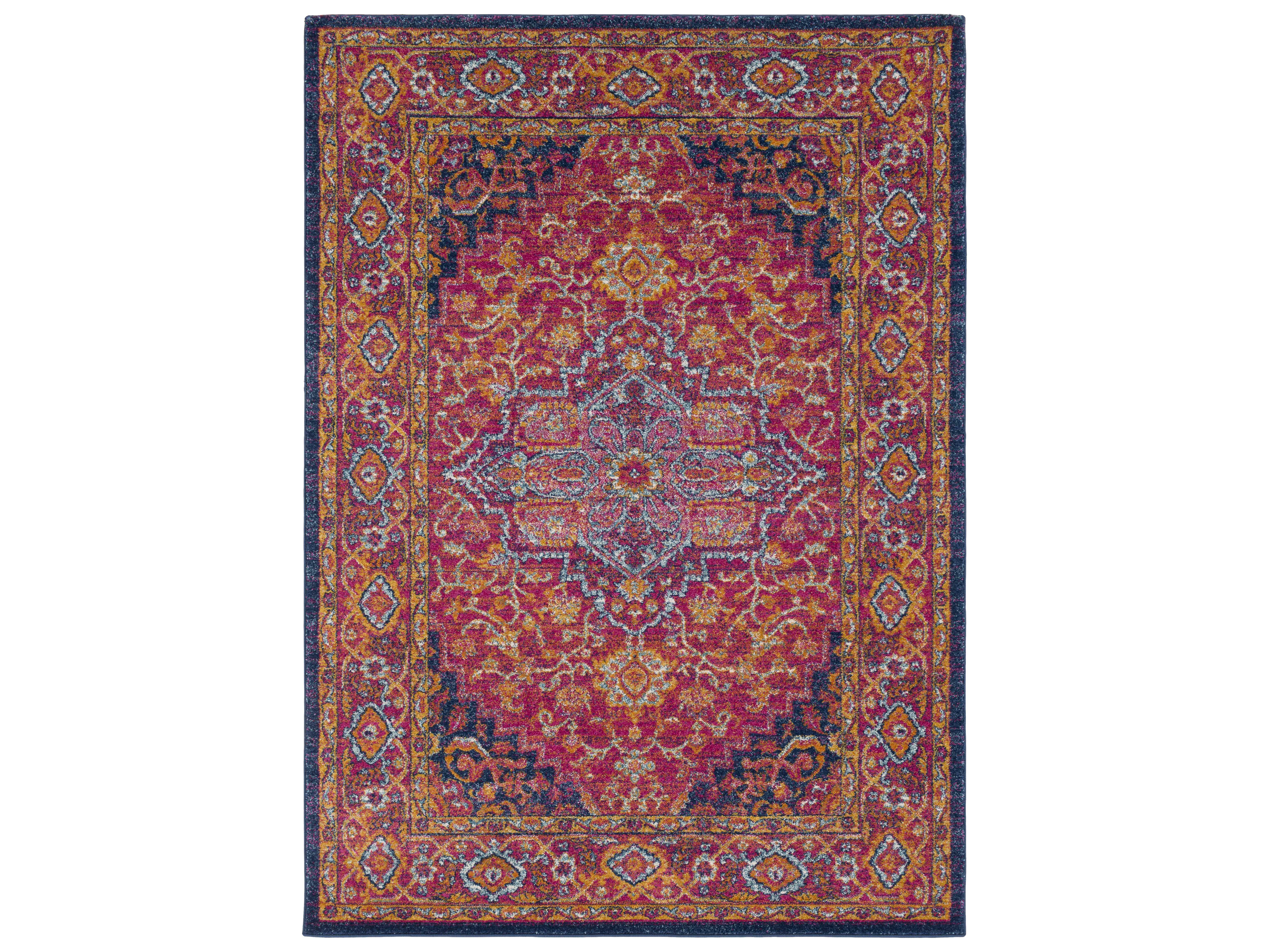 surya harput rectangular bright pink burnt orange navy area rug syhap1009rec. Black Bedroom Furniture Sets. Home Design Ideas