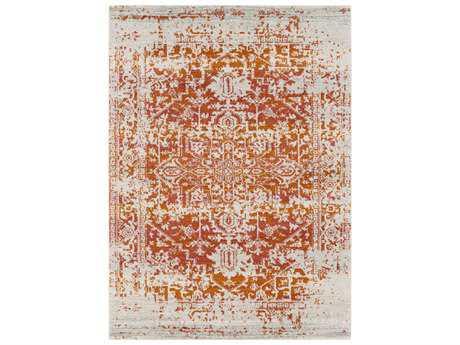 Surya Harput Rectangular Ivory, Bright Orange & Red Area Rug