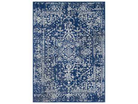 Surya Harput Rectangular Blue & Ivory Area Rug