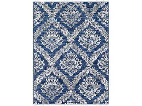 Surya Harput Rectangular Blue & Light Grey Area Rug