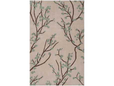 Surya Hudson Park Rectangular Green Area Rug