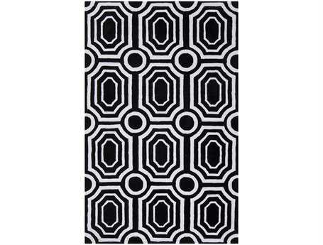 Surya Hudson Park Rectangular Black Area Rug