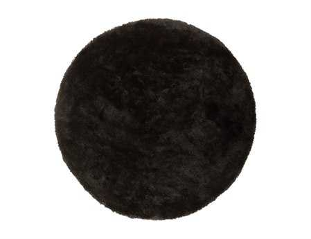 Surya Heaven 8' Round Black Area Rug