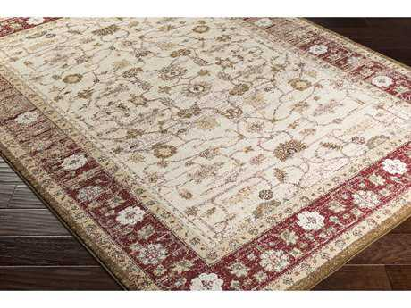 Surya Henre Rectangular Dark Red, Camel & Denim Area Rug