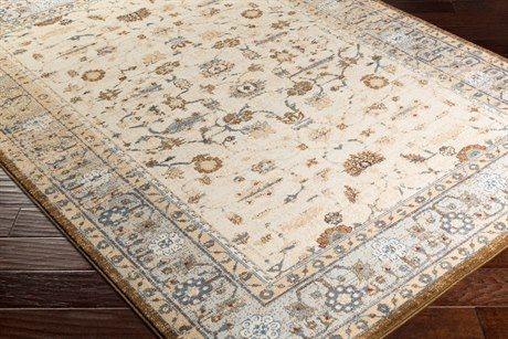 Surya Henre Rectangular Pale Blue, Denim & Camel Area Rug
