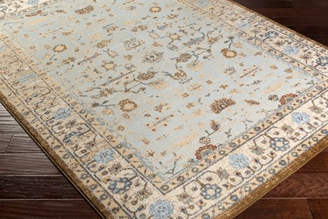 Surya Henre Rectangular Pale Blue, Wheat & Denim Area Rug