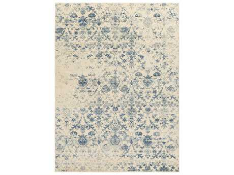 Surya Henre Rectangular Denim, Pale Blue & Cream Area Rug