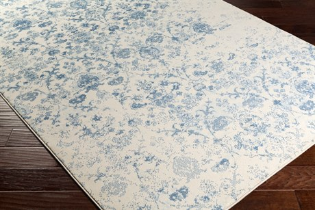 Surya Henre Rectangular Denim, Pale Blue & Cream Area Rug