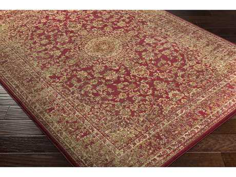 Surya Henre Rectangular Dark Red, Cream & Camel Area Rug