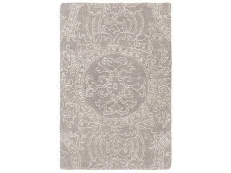 Surya Henna Rectangular Medium Gray & Light Gray Area Rug