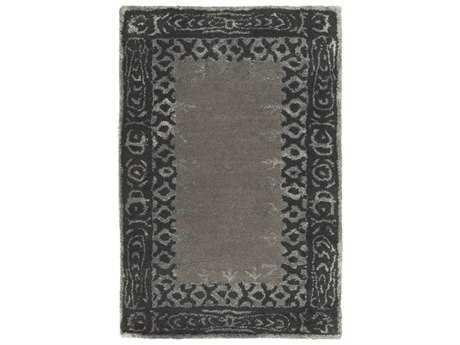 Surya Henna Rectangular Medium Gray, Black & Taupe Area Rug