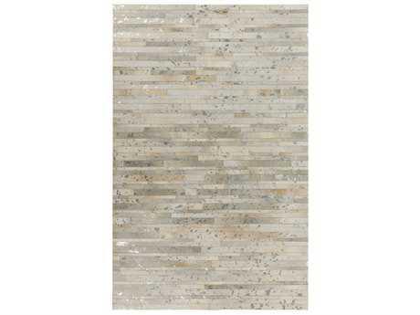 Surya Hewitt Rectangular Khaki, Light Gray & Silver Area Rug