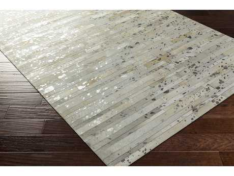 Surya Hewitt Rectangular Khaki, Light Gray & Silver Area Rug