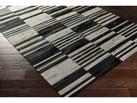 Surya Hewitt Rectangular Black & Khaki Area Rug
