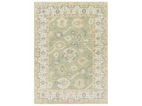 Surya Hillcrest Rectangular Dark Green, Bright Yellow & Sea Foam Area Rug