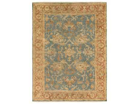Surya Hillcrest Rectangular Teal, Burnt Orange & Olive Area Rug