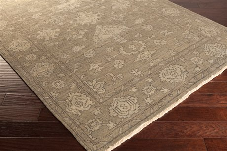Surya Hillcrest Rectangular Light Gray Area Rug