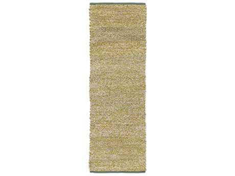 Surya Hollis 2'6'' x 8' Rectangular Grass Green, Dark Green & Beige Runner Rug