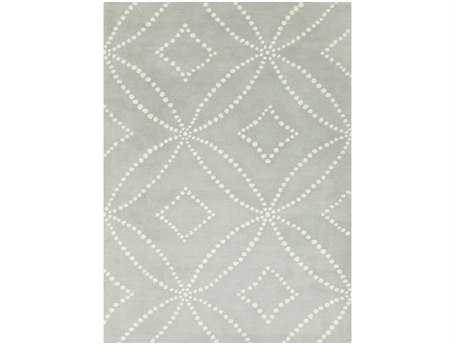 Surya Harlequin Rectangular Light Gray Area Rug