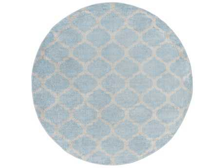 Surya Horizon 7'10'' Round Denim & Charcoal Area Rug
