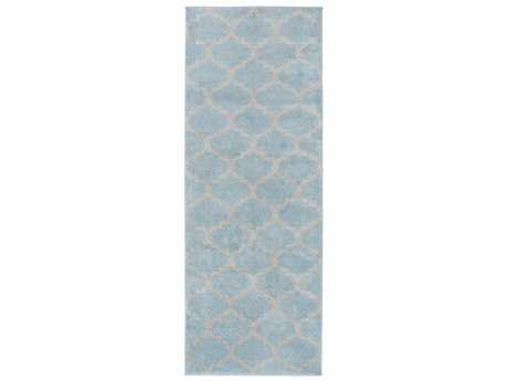 Surya Horizon 2'7'' x 7'3'' Rectangular Denim & Charcoal Runner Rug