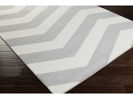 Surya Horizon Rectangular Black & White Area Rug