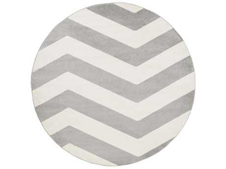 Surya Horizon 7'10'' Round Black & White Area Rug