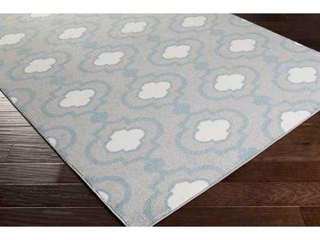 Surya Horizon Rectangular Charcoal, Denim & Cream Area Rug